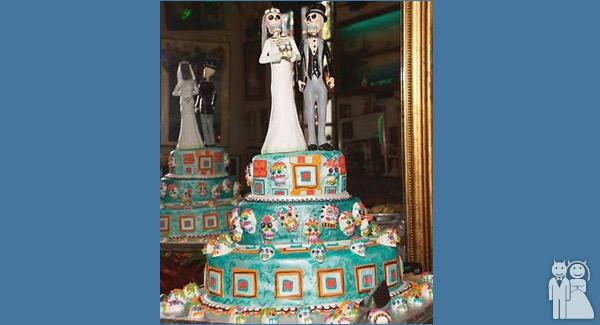Dia De Los Muertos Cake | Wedding Unveils - Funny Wedding Photos