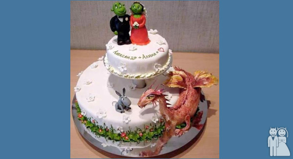 funny wedding cake photo