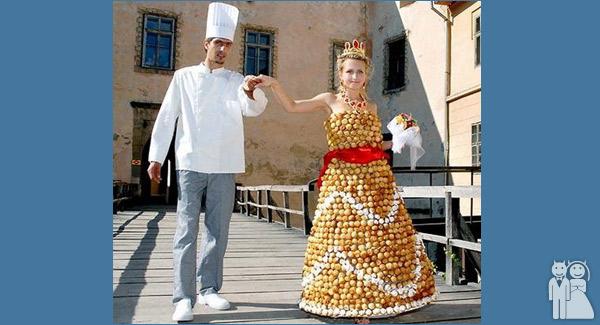 funny wedding dress photo
