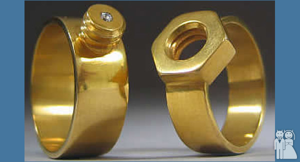 funny wedding rings photo