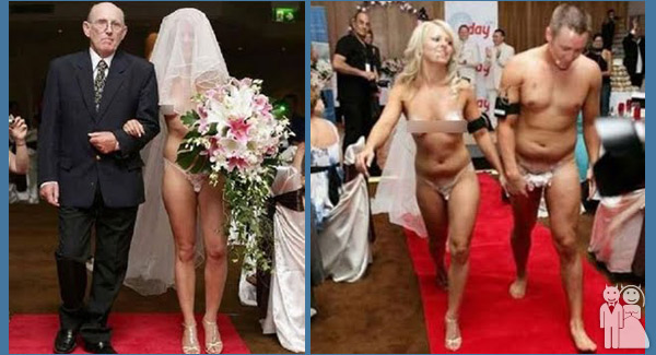 funny nude wedding photos