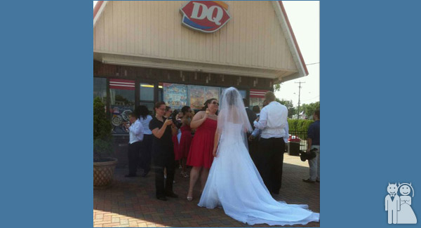 funny dairy queen wedding photo