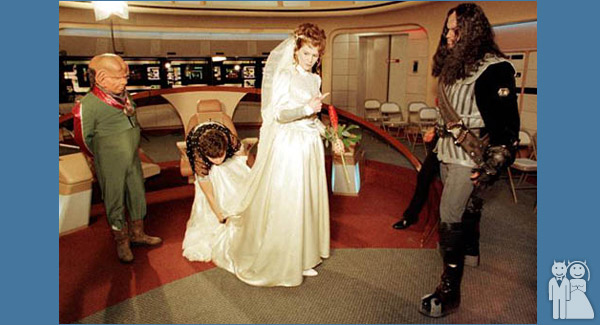 funny star trek wedding photo