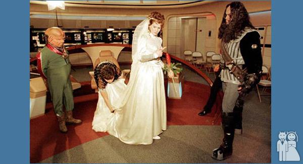 funny star trek wedding photo