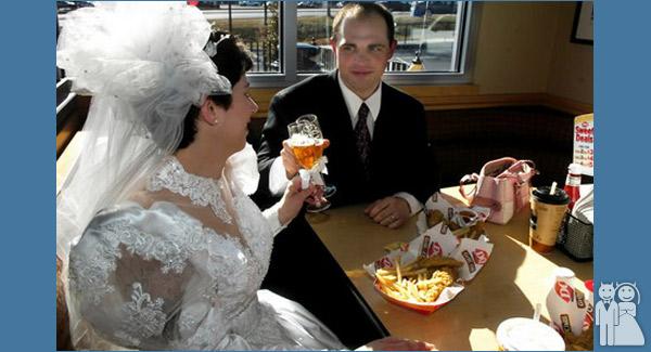funny dairy queen wedding photo