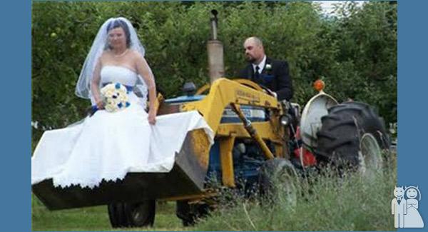 Mr. & Mrs. John Deere   Wedding Unveils - Funny Wedding Photos
