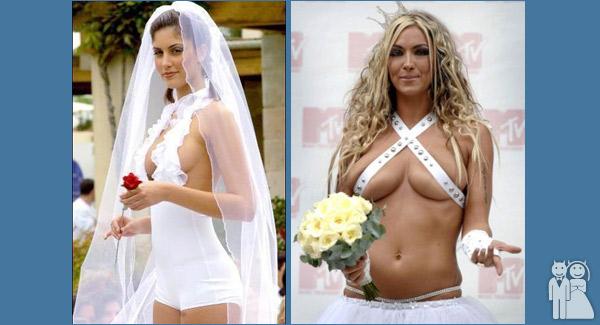 funny wedding dress photos