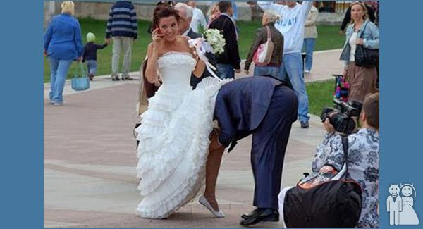 funny bride wedding photo