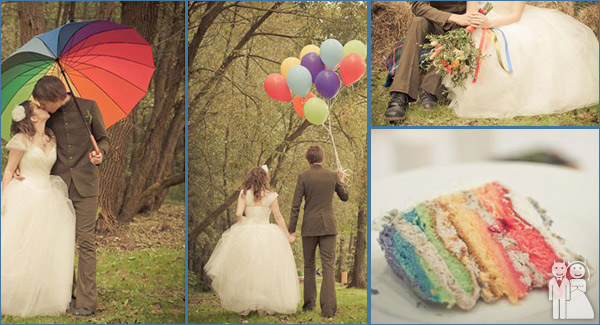 funny theme wedding photo