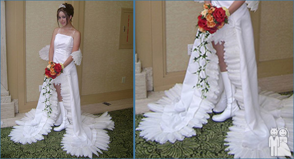 funny wedding dress photo