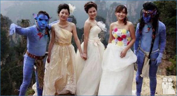 funny avatar wedding photo