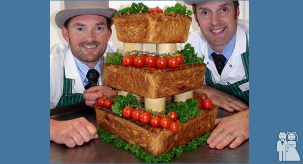 funny wedding cake photo