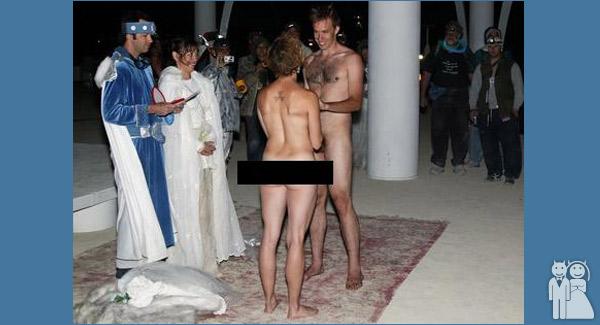 funny nude wedding photo